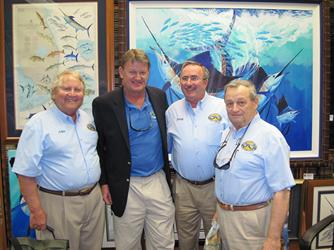 IGFTO Founders John Treat, Terry O'Neill and Bob Malerba shown here with artist Guy Harvey who designed the IGFTO Logo